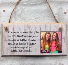Personalised photo friends sister colleague Plaque Sign Gift Keepsake birthday