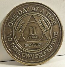 Alcoholic 2 Year Recovery - One Day Chip-Medallion Coin Medal Token AA Anonymous