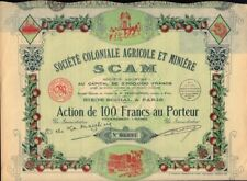 AFRICA / FRANCE French Colonies : SCAM Soc. Coloniale Agricole & Miniere  1938