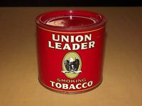 VINTAGE PIPE UNION LEADER EAGLE SMOKING  TOBACCO TIN CAN