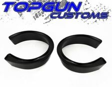 """88-98 Chevy GMC C1500 C2500 C3500 Black 2.5"""" Coil Spacers Front Lift Kit 2WD"""