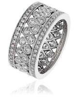 Diamond Full Eternity Wedding Ring 2.35ct Brilliant Cut F VS in 18ct White Gold