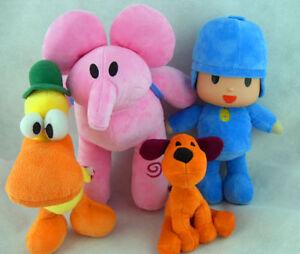 4Pcs Pocoyo Elly Pato Loula Soft Of Set Plush Stuffed Figure Toy Doll Kid gift