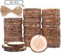 50 x Holzscheiben Baumscheiben Astscheiben 6-7 cm rund Hochzeit Bastel Dekor