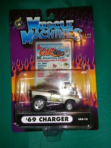Muscle Machines Cartoons Silver '69 Dodge Charger C02-12 Die Cast 1:64 Scale