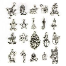 20x Lots Tibetan Silver Christmas Mixed Pendants Charms DIY Jewelry Findings_S