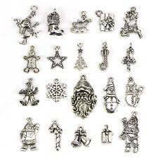 20x Viele tibetische Silber Weihnachten gemischte Anhänger Charms DIY SchmuckQXH