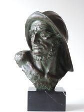 G. Carli Belgium scultura pescatori Marinaio Uomo