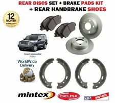 FOR JEEP COMMANDER 2005-2010 REAR BRAKE DISCS SET +  PADS SET + HANDBRAKE SHOES