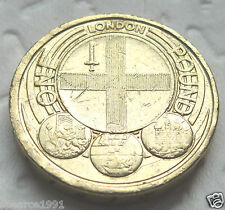 RARE £ 1 Lb (environ 0.45 kg) coin Capital Cities London England 2010 Pièce Chasse
