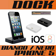 BASE DOCK PER IPHONE 8 7 6 6s 6 8 plus 6s plus 5s CARICA BATTERIE E SINCRONIZZA