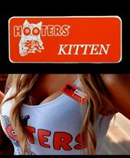Hooters Girl Uniform Kitten Name Tag lingerie Badge pin Lingerie extra sexy