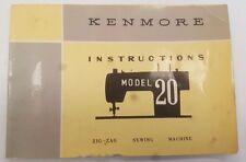 "SEARS KENMORE MODEL ""20"" OWNERS MANUAL - SEARS, ROEBUCK & CO."