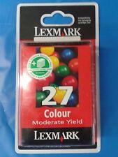 Cartucho de tinta Lexmark Nº 27 Color ORIGINAL - GENUINE