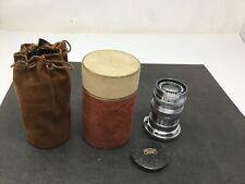 Vintage Carl Zeiss Jena Nr 2073440 Triotar 1:4 f= 8.5 cm Camera Lens In Case