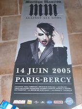 MARYLIN MANSON - BERCY 2005 !!!Affiche promo / French promo poster !!!!!!!!!
