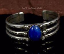 Dainty Old Pawn Vintage Navajo Lapis Lazuli Sterling Silver Bracelet SPRUCE