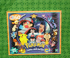 New Pokemon Jigsaw Puzzle Hasbro 1999 Ash Misty Team Rocket Articuno Cubone