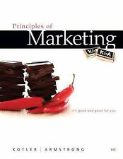 Principles of Marketing by Gary Armstrong and Philip Kotler  Hardcover 14th Ed