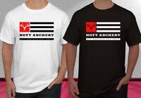 HOYT Archery Logo Black White Men's T-shirt S-2XL