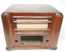 vintage * SILVERTONE 6359 BATTERY TUBE RADIO:  WOOD CABINET SHELL