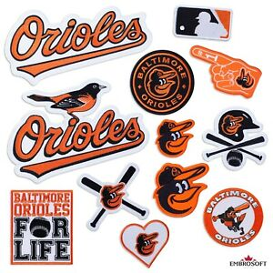 Baltimore Orioles Patch, Baseball Team Logo, Embroidered Sports Patches Iron