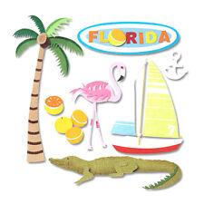 JOLEE's Scrapbooking 3D Sticker ~ FLORIDA ~ USA ~ MIAMI ~ KEY WEST ~ URLAUB