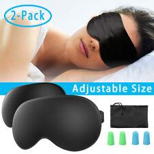 Silk/Cotton Sleep Eye Mask Travel Blindfold Shade Cover Adjustable Size+Ear Plug