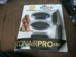 ConairPRO Shed It Deluxe Deshedding Professional Grooming Kit for Small Dogs NIP