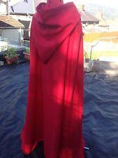 ROSSO CON CAPPUCCIO Mantello rosso con cappuccio foderato più colori disponibili (38)
