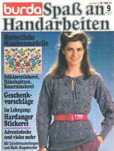 ANNA Spaß an Handarbeiten 9/1979 - Hardanger Jacquard Tücher Biedermeierstick