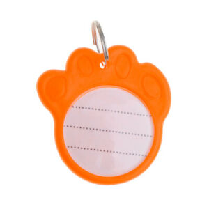 Paw Shaped ID Tags Anti-Lost Name Address Number For Pet Dog Cat Collar Pendant