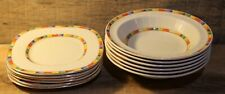 Grindley England Lot Of Dishes Plates Bowls Saucers Retro Pattern Very Nice +