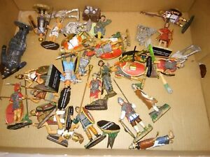 Lot of mixed cast metal painted Soldiers various warriors brand unknown 2 3/4 ""