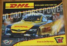 2014 Del Worsham signed Dhl Toyota Camry Funny Car Nhra postcard
