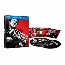 Scarface (Blu-ray,SteelBook Limited Edition) 10 Collectible Cards *New & Sealed*