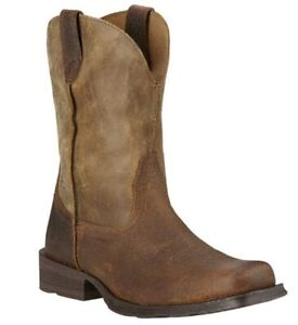 Ariat Mens Rambler Square Toe Western Boots Earth/Bomber Brn 10002317 Many Sizes