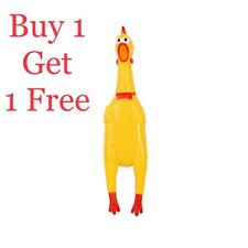 New listing Rubber shrilling Chicken Toy Fun Squeeze Sound Relax Prank Dog Chew Toy Gift