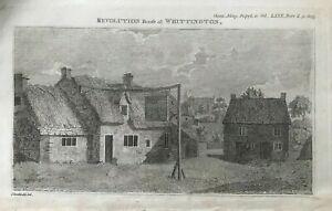 ANTIQUE PRINT WHITTINGTON THE REVOLUTION HOUSE 1810 GENTLEMAN'S MAGAZINE PL II