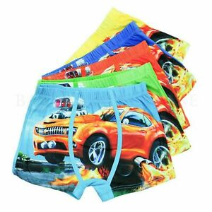 Cartoon Boxer Kids Boys Cotton Baby Children Panties Car Underwear Gift