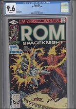 Rom: The Space Knight #4  CGC 9.6 Marvel 1980 Before Transformers NEW CGC FRAME