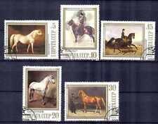 Chevaux Russie (26) série complète de 5 timbres oblitérés