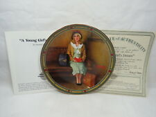 Edwin Knowles Norman Rockwell Collector Plate Young Girls Dream Box & Coa S2 2