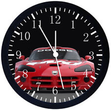 Dodge Viper NASCAR Black Frame Wall Clock Nice For Decor or Gifts W209