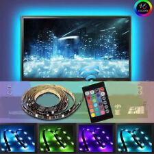 4 stk. LED TV Lichtleiste 300 LEDs mit Fernbedienung USB Lichtstreife RGB 2M
