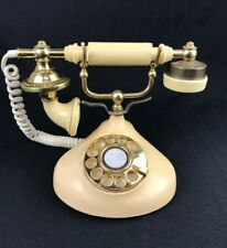 Vintage FRENCH STYLE Beige/Gold Dial Phone Made in Korea