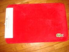 "LACOSTE MEMORY FOAM RED/FORMULA 1 FLOOR/BATH MAT 19"" x 30"" OR 48 CM x 76 CM"