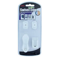 Cellet White Universal Swivel Clip Holder for Belt / Car