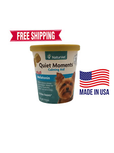 NaturVet Quiet Moments Plus Melatonin 70 Chews FREE SHIPPING