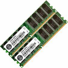 Memory Ram 4 Desktop PC DDR PC 2700 333MHz 184 pin DIMM Non ECC CL2.5 CL6 2x Lot